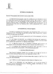 Icon of Informe Intervención Presupuesto 2020