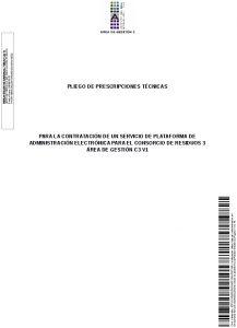 Icon of Pliego Prescripciones Técnicas
