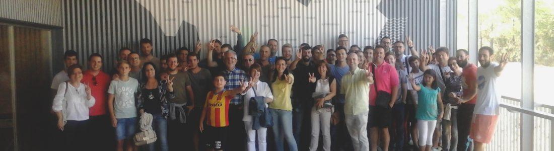 Vecinos de Vallada visitan la planta de Algimia junto al director general de Cambio Climático y Calidad Ambiental